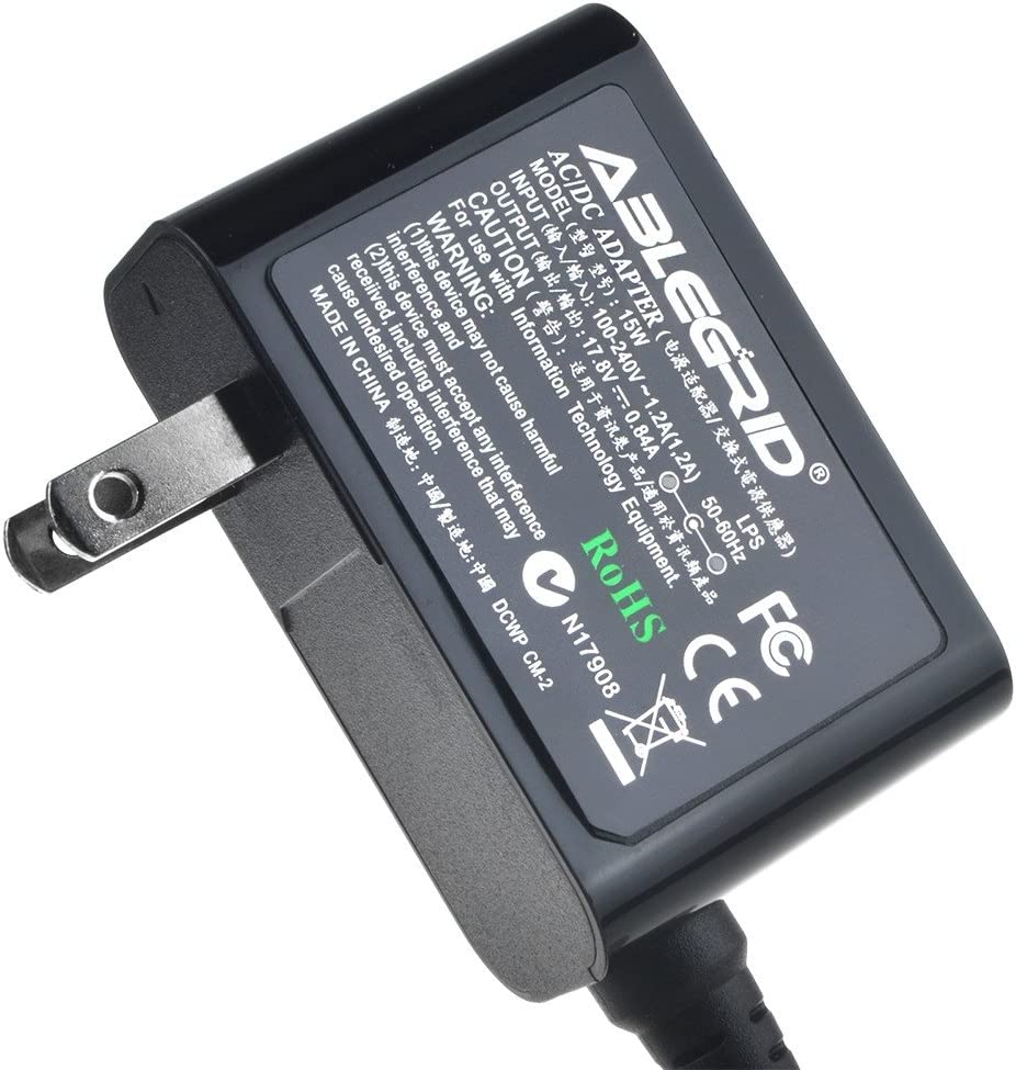 ABLEGRID 17.8v AC-DC Adapter Battery Charger for Fluke BC190 Power Supply Cord PSU