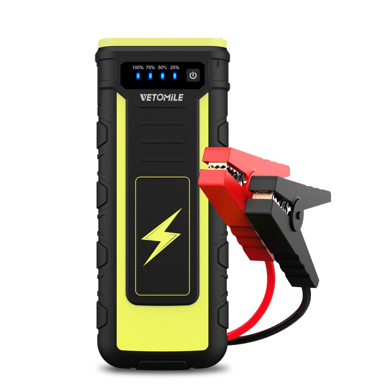 Vetomile EPower Jump Starter de mAh A Batería Arrancador de Emergencia para