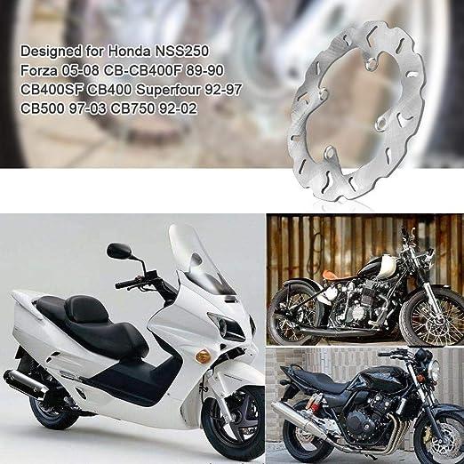 240 mm Freno Trasero de la Motocicleta Disco del Rotor Compatible with Forza NSS250 CB-CB400F CB400SF KSTE Disco Freno Trasero 240