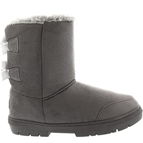 88627467c Mujer Twin Bow Tall Classic Fur Impermeable Invierno Rain Nieve Botas   Amazon.es  Zapatos y complementos