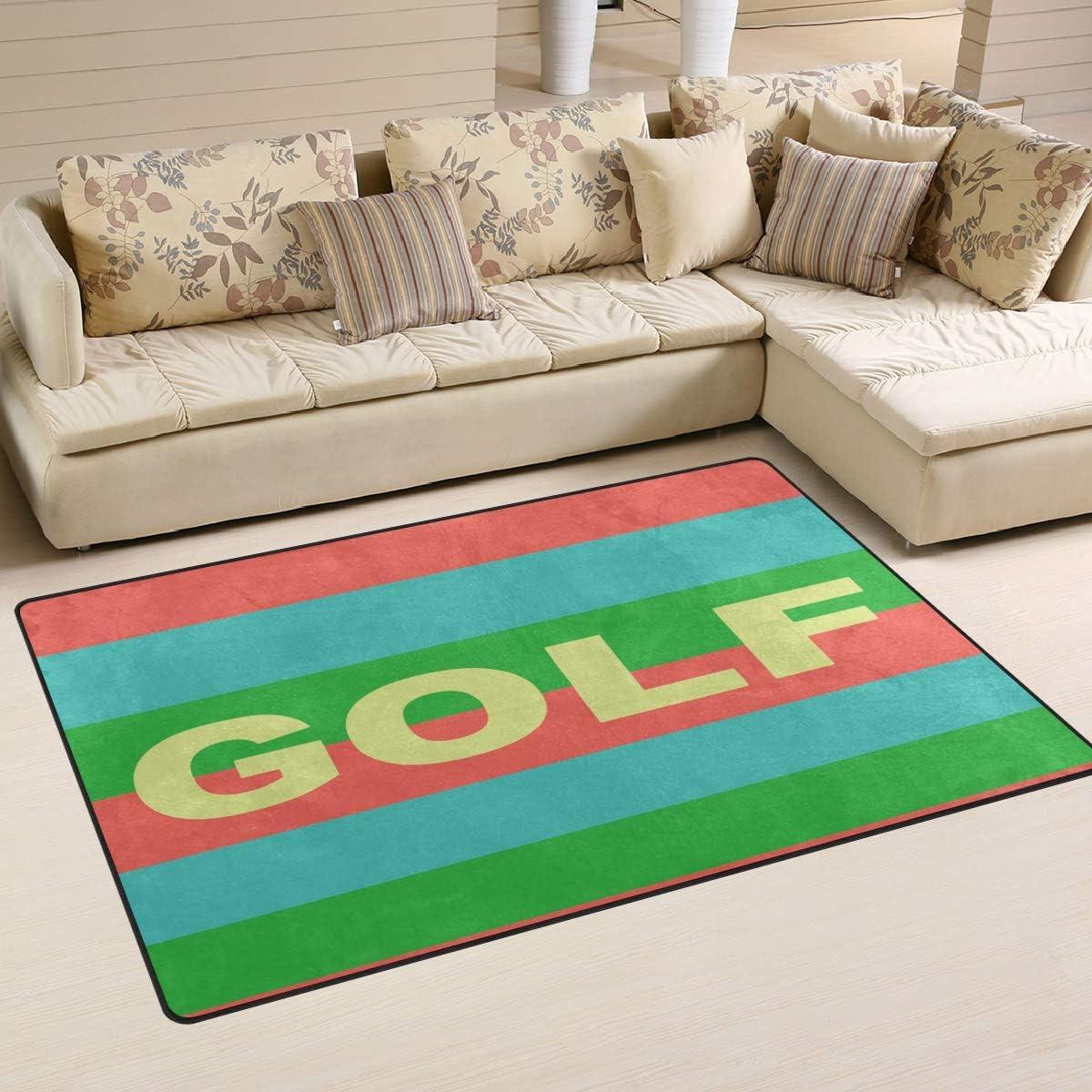 3D Modern Area Rug Carpet Floor Pad Non-slip Doormat