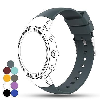 iFeeker ZenWatch 3 Banda, Accesorios Suave de Silicona de Repuesto Correa de Reloj Pulsera para ASUS ZenWatch 3 Smart Fitness Reloj