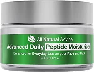 All Natural Advice Daily Moisturizer with Peptide and Hyaluronic Acid | Canadian Made | Organic | Age-Defying Skincare for Face and Neck | Anti-Aging Complex for Natural Skin Tone and Healthy Radiance | 120 ml | Double the Size