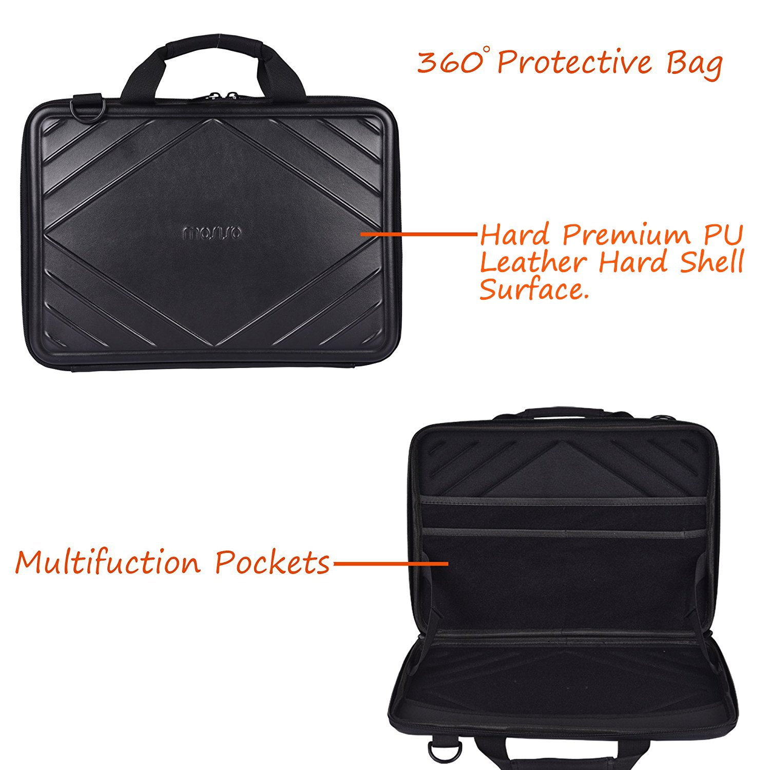 MOSISO EVA Hard Shell Protective Laptop Shoulder Bag Compatible 13-13.3 Inch MacBook Pro, MacBook Air, Notebook, Portable Universal Shockproof ...