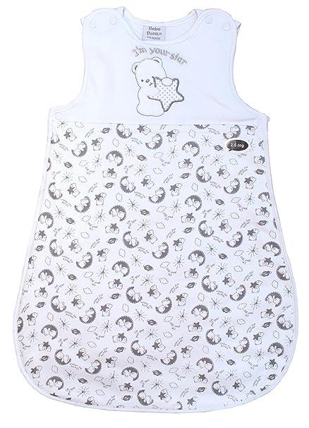 Bebé Unisex Osito de Peluche búho Estrellas Saco de Dormir Traje de Dormir TOG 2.5 Rallas