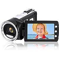 Heegomn Digitale videocamera voor YouTube Vlogging, 1080p Mini DV-videocamcorder voor kinderen/kinderen/beginners…