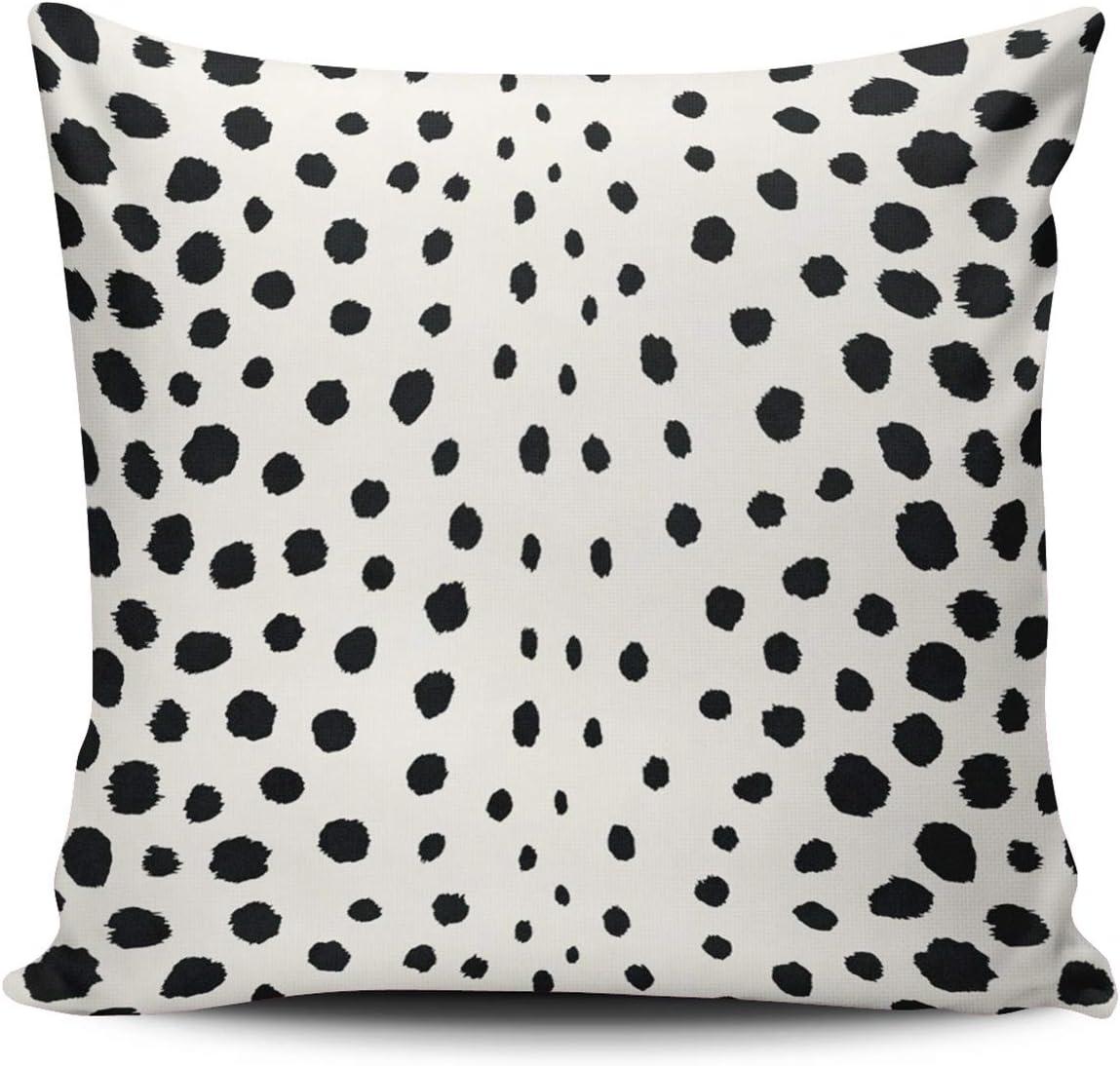 Amazon Com Fanaing Chic Black Cheetah Print Pattern Pillowcase Home Sofa Decorative 20x20 Inch Square Throw Pillow Case Decor Cushion Covers One Side Printed Home Kitchen