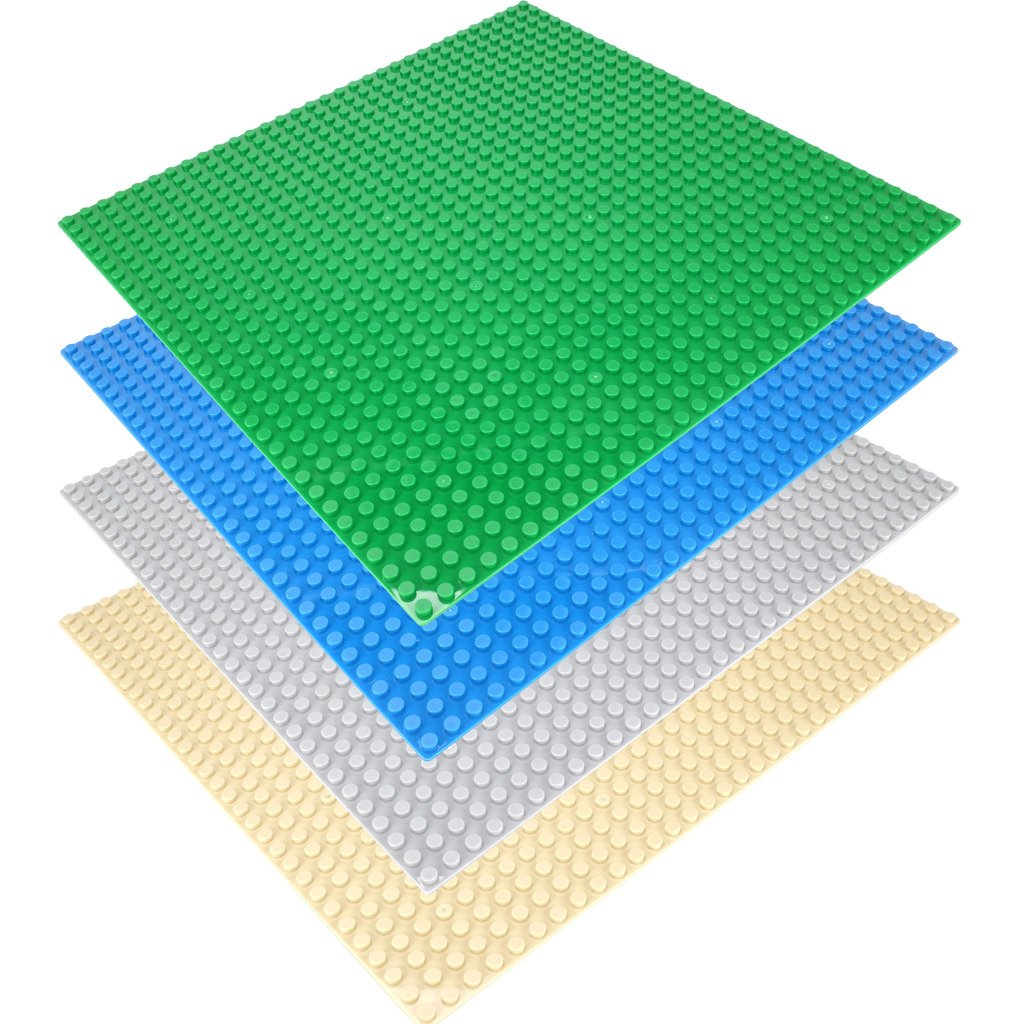 "CLOURF Classic Building Baseplates / Peel-and-Stick Baseplates - Self Adhesive Brick Building Plates - 10"" x 10"" in Variety Color - Compatible With Most Major Brands of Building Bricks Review"