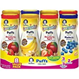 Gerber Graduates Puffs Cereal Snack, Value Variety Pack 1.48 oz., 8 ct.
