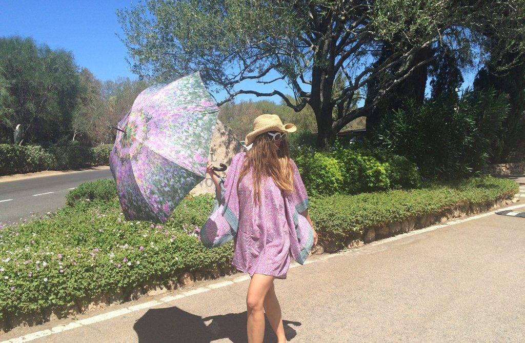 Le Jardin VON LILIENFELD/® Parapluie Automatique Pliant Femme Motif Arte Floral Claude Monet
