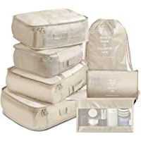 Packing Cubes 7 Pcs Travel Luggage Packing Organizers Set with Toiletry Bag