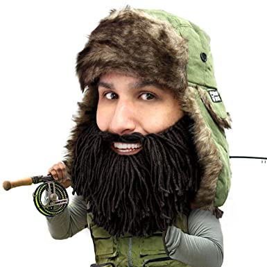 4f059275c Beard Head Barbarian Trapper Beard Hat - Faux Fur with Ear Flaps and Beard  Facemask