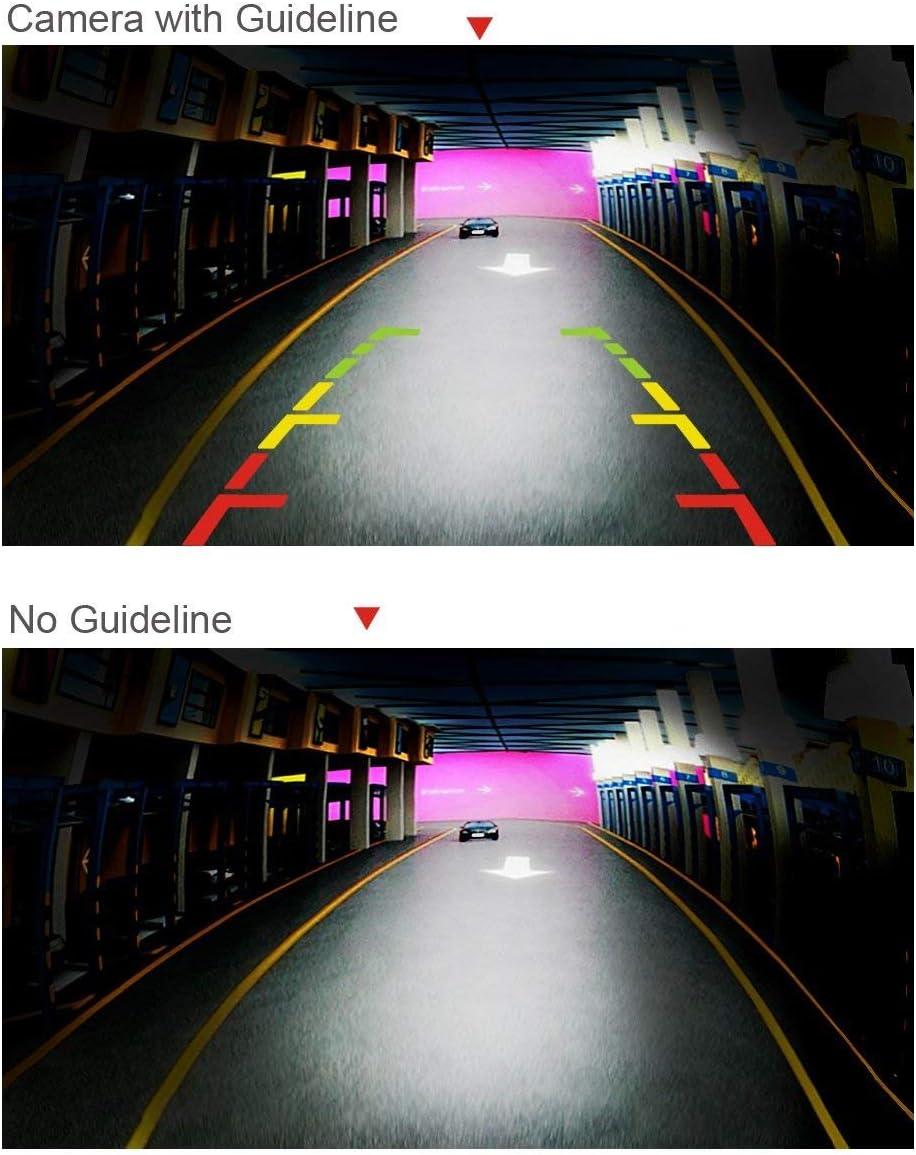 Asistente de Aparcamiento c/ámara para Toyota RAV4 2002~2012 C/ámara de visi/ón Trasera HD 720p en luz de matr/ícula