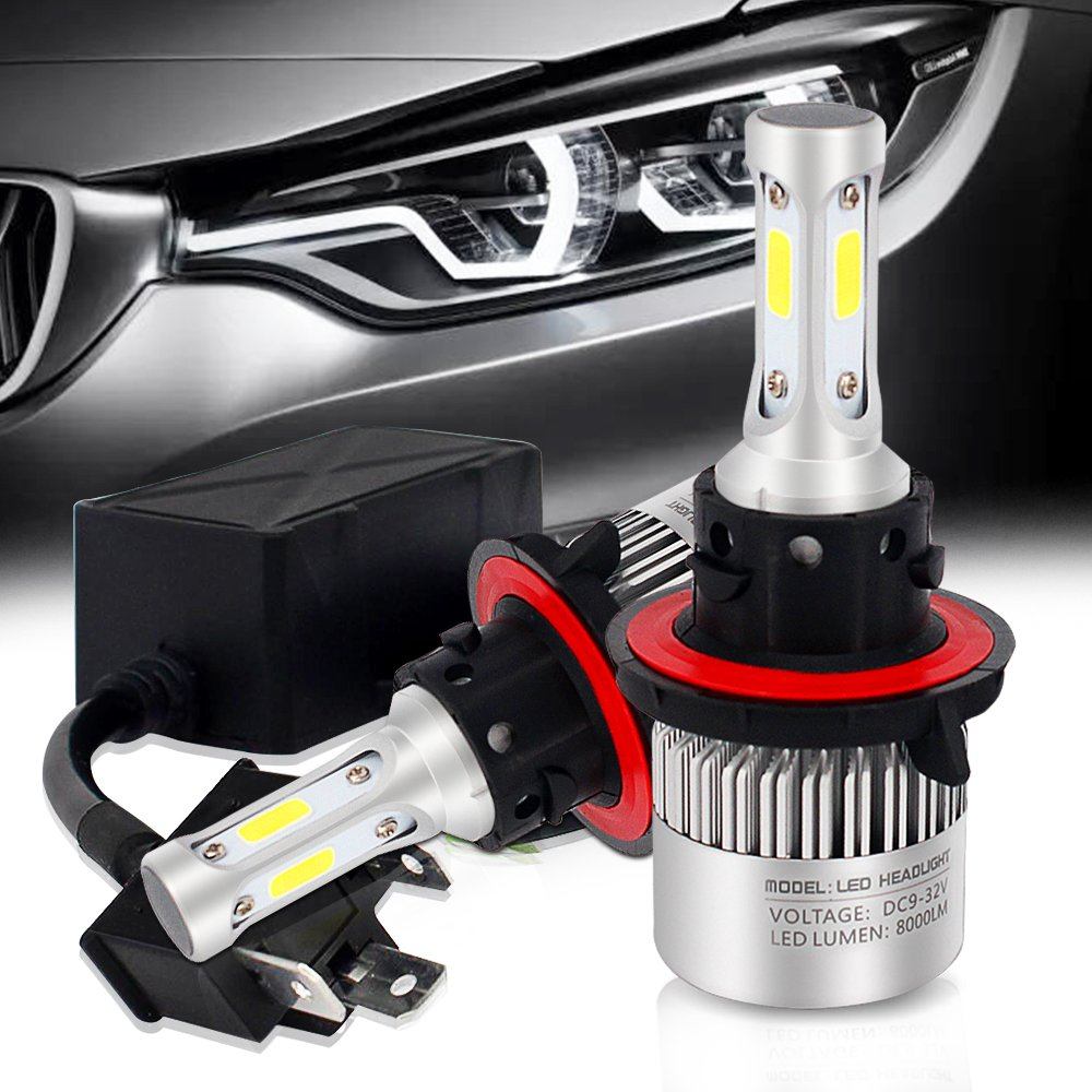 9008 H13 Led Headlight Bulbs For Dodge Ram 1500 2500 3500 2006 2012 Headlights Hi Lo Beam