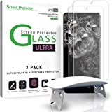 amFilm Ultra Glass Screen Protector for Galaxy S20 Ultra, (2 Pack) UV Gel Application, Tempered Glass, Fully Compatible with
