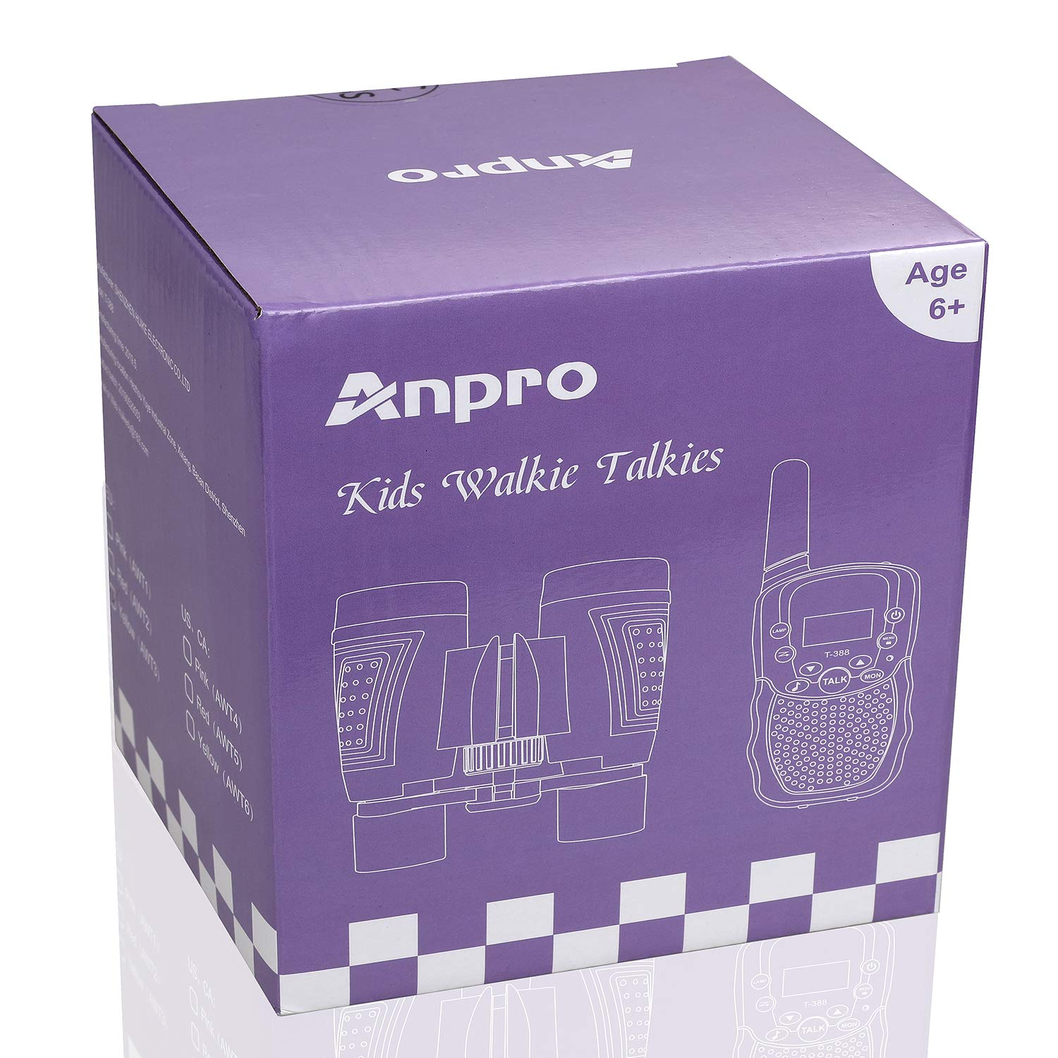 Anpro walkie talkies and Telescope Sets for Kids, 22 Channel 2 Way Radio 3 Mile Long Range Handheld Kids Walkie Talkies, Best Gifts & Top Toys for Boy & Girls for Outdoor Adventure Game(Pink) by Anpro (Image #7)