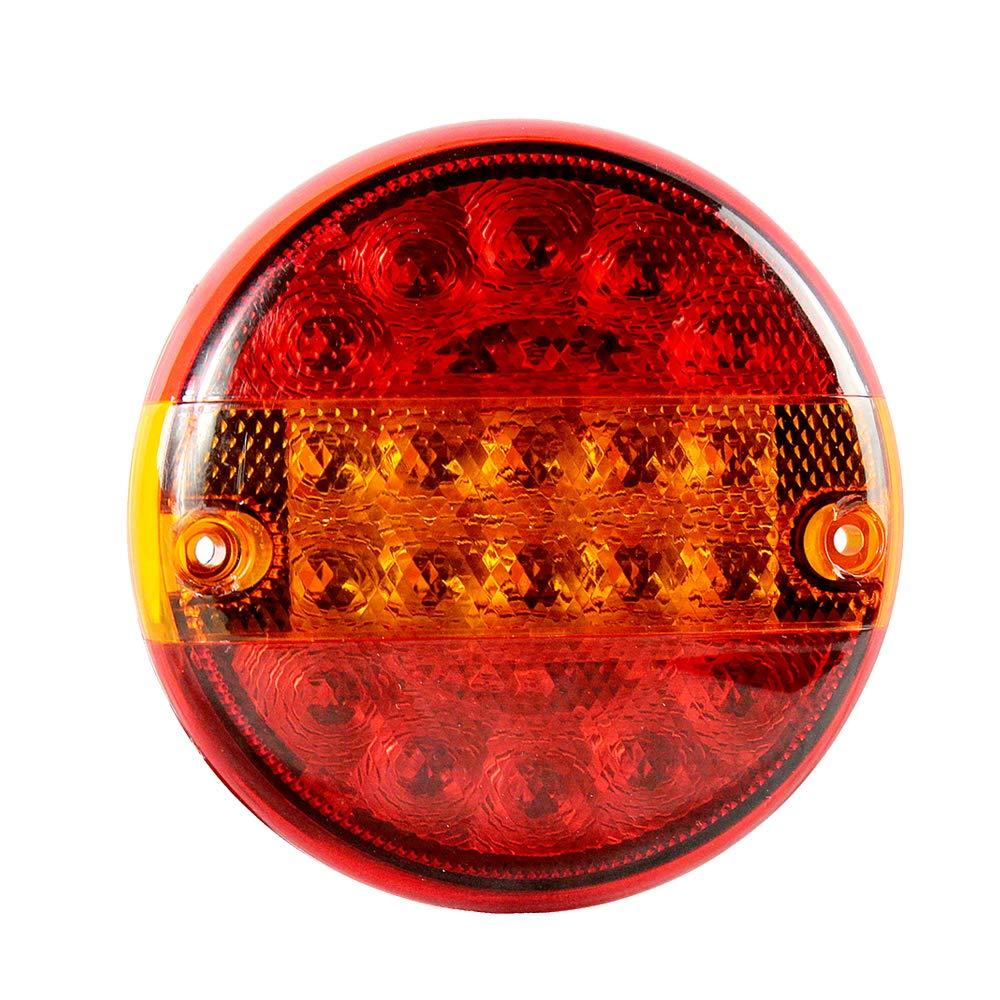 AOHEWEI 20 LED Anh/änger R/ücklicht Runden Bremsleuchte Lkw Blinklicht Beleuchtung Licht Anhalten Anzeige Lampe Wasserdicht/10~30V f/ür Anh/änger Lkw Wohnwagen Oder Van 20 led-chips