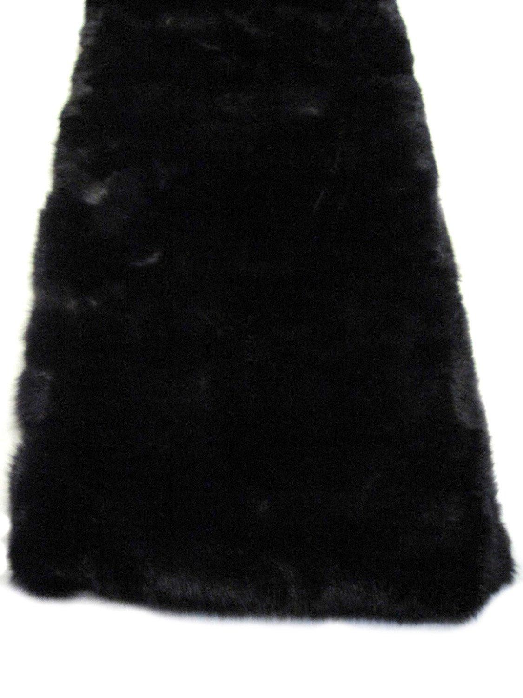 Full Skin Natural Blue Fox Fur Blanket/Throw w/100% Cashmere Black Backing 45x80 B07DN3PQCT Natural Blue Fur/Black Cashmere Backing 45x80 inches Medium/Single