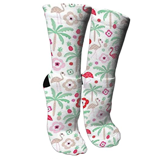 c62f0ca93118 Hot Summer Flamingo Pineapple Palm Tree Fashion Stylish Knee High Socks for  Women and Men-
