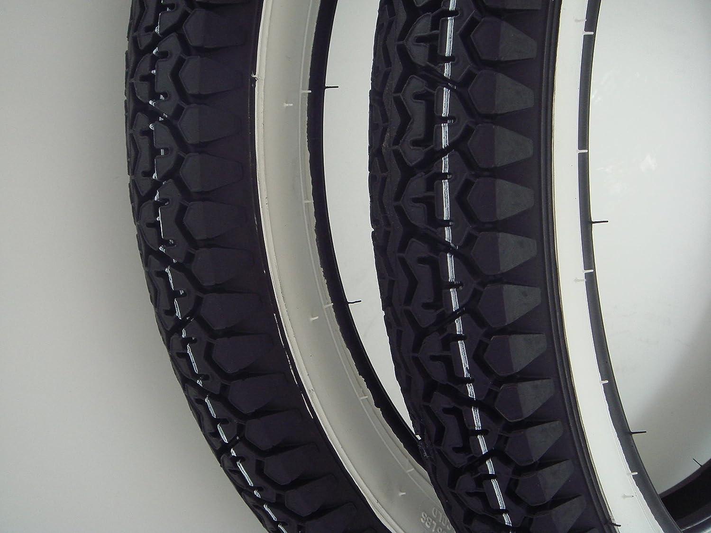 Citomerx - Ruedas para motos Kreidler Florett, Hercules, Zündapp (banda blanca, 7 x 43 cm): Amazon.es: Coche y moto