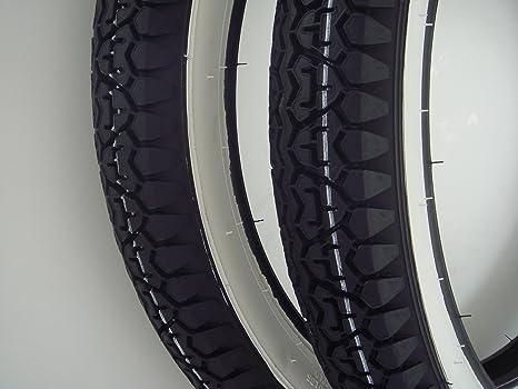 Citomerx – Ruedas para motos Kreidler Florett, Hercules, Zündapp (banda blanca, 7