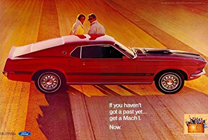 Amazon Com 1969 Ford Mustang Mach 1 351 Advertisement Picture On