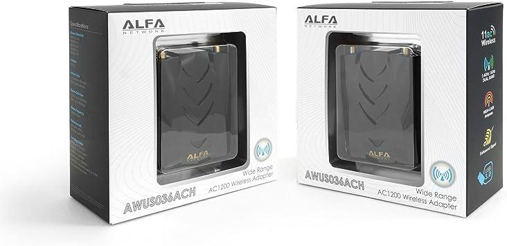 Alfa AWUS036ACH Adaptador USB Dual Band AC1200