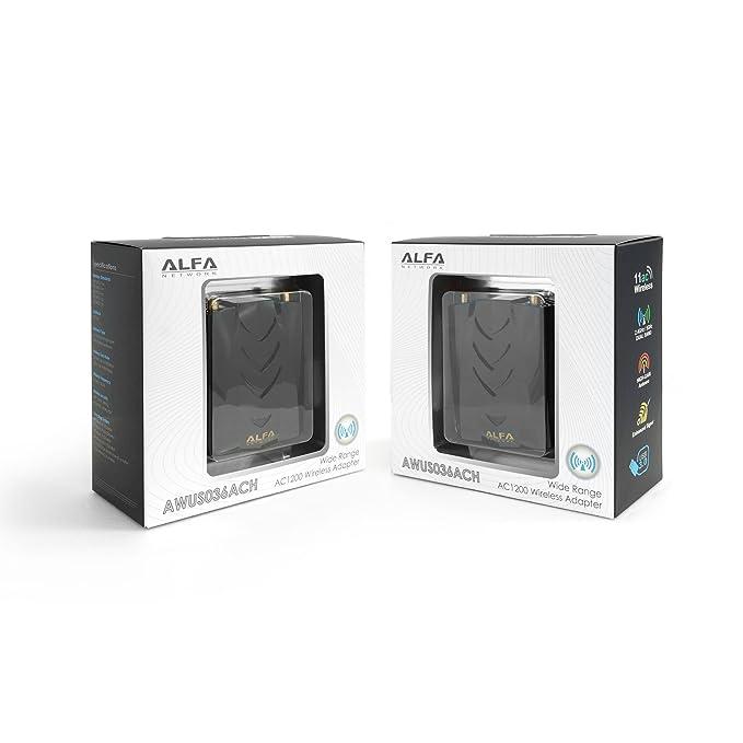 Alfa AWUS036ACH Dual Band USB Adaptor AC1200