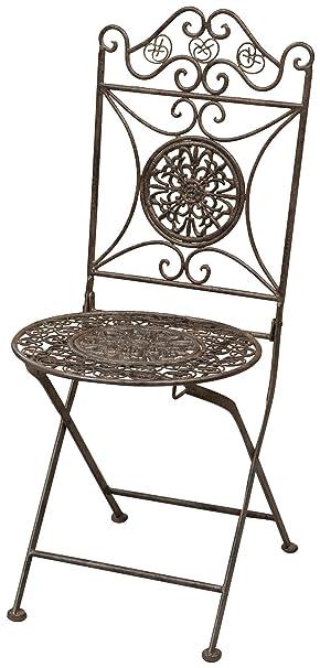 Juego de 2 sillas plegables en acabado antiguo de óxido de ...