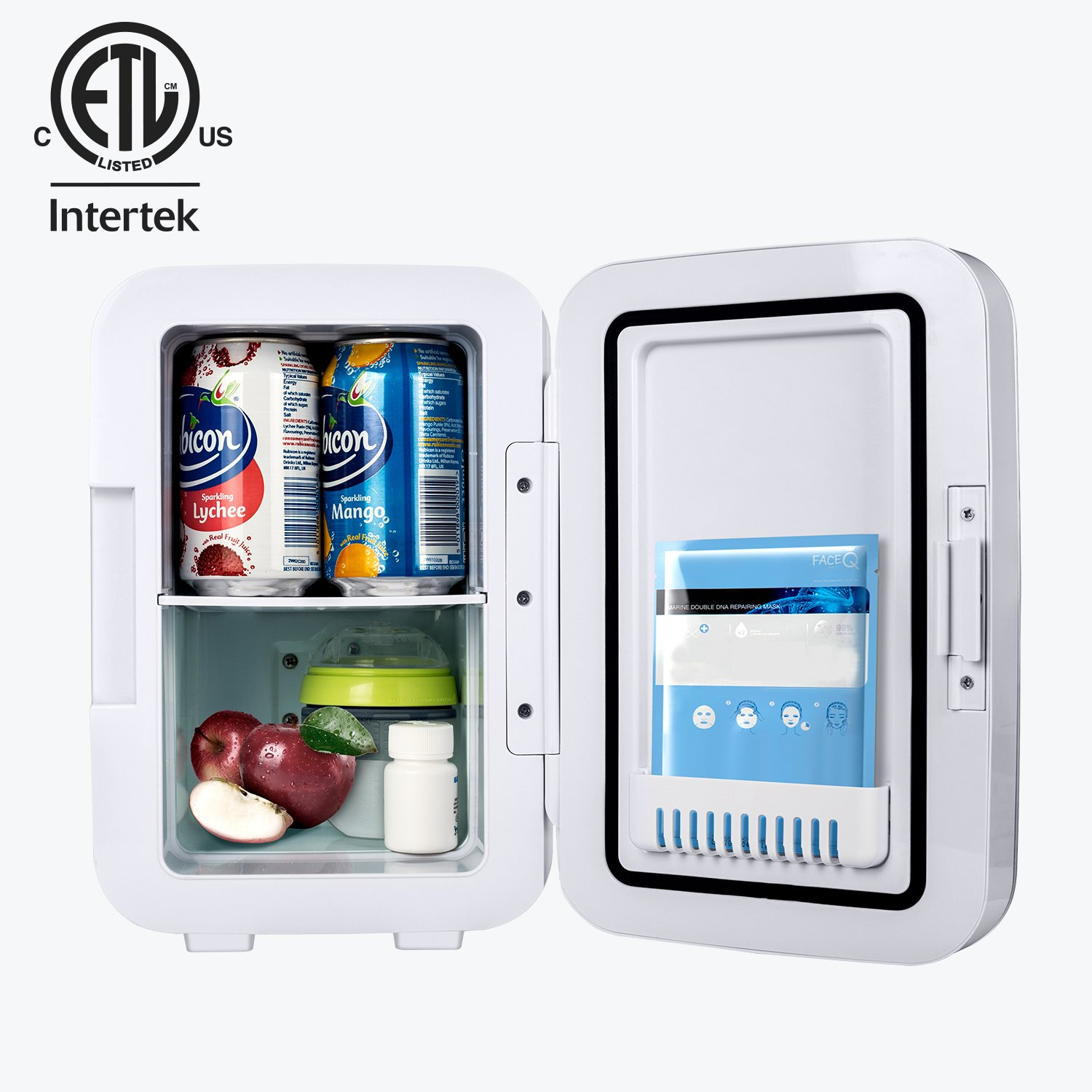 Kinverch Mini Fridge Electric Cooler and Warmer (6 Liter / 6 Can Plus) :110v AC / 12V DC Portable Thermoelectric System,,For Car /Home /Kichen/Junket/Outdoor for frinds / parents/yourself (Silver) by Kinverch (Image #3)