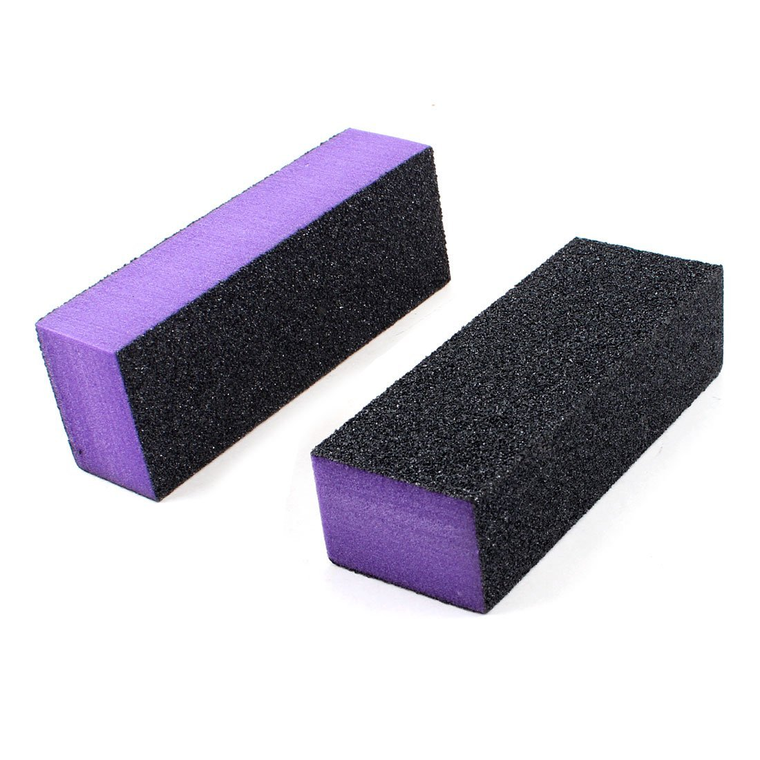 Amazon.com : Black Purple 4 Way Nail File Art Shiner Polish Buffer ...