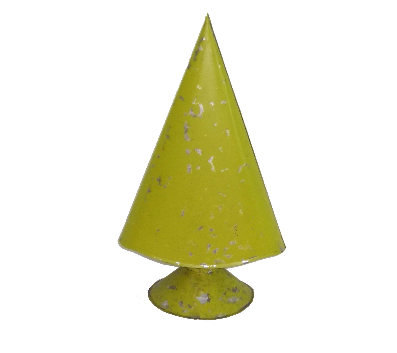 Large Lime Green Metal Christmas Tree