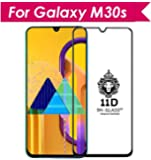 NISHTECH Full Edge to Edge Screen cuverage 11D (Beauty of the shine) Tempered Glass for Samsung Galaxy M30S/M30 (2019)