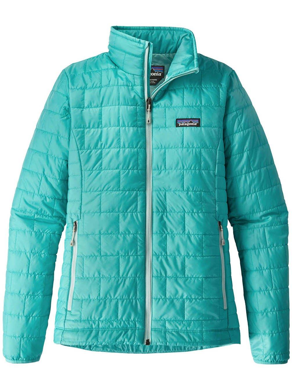 Patagonia Women's Nano Puff Insulated Jacket (Large, Strait Blue)