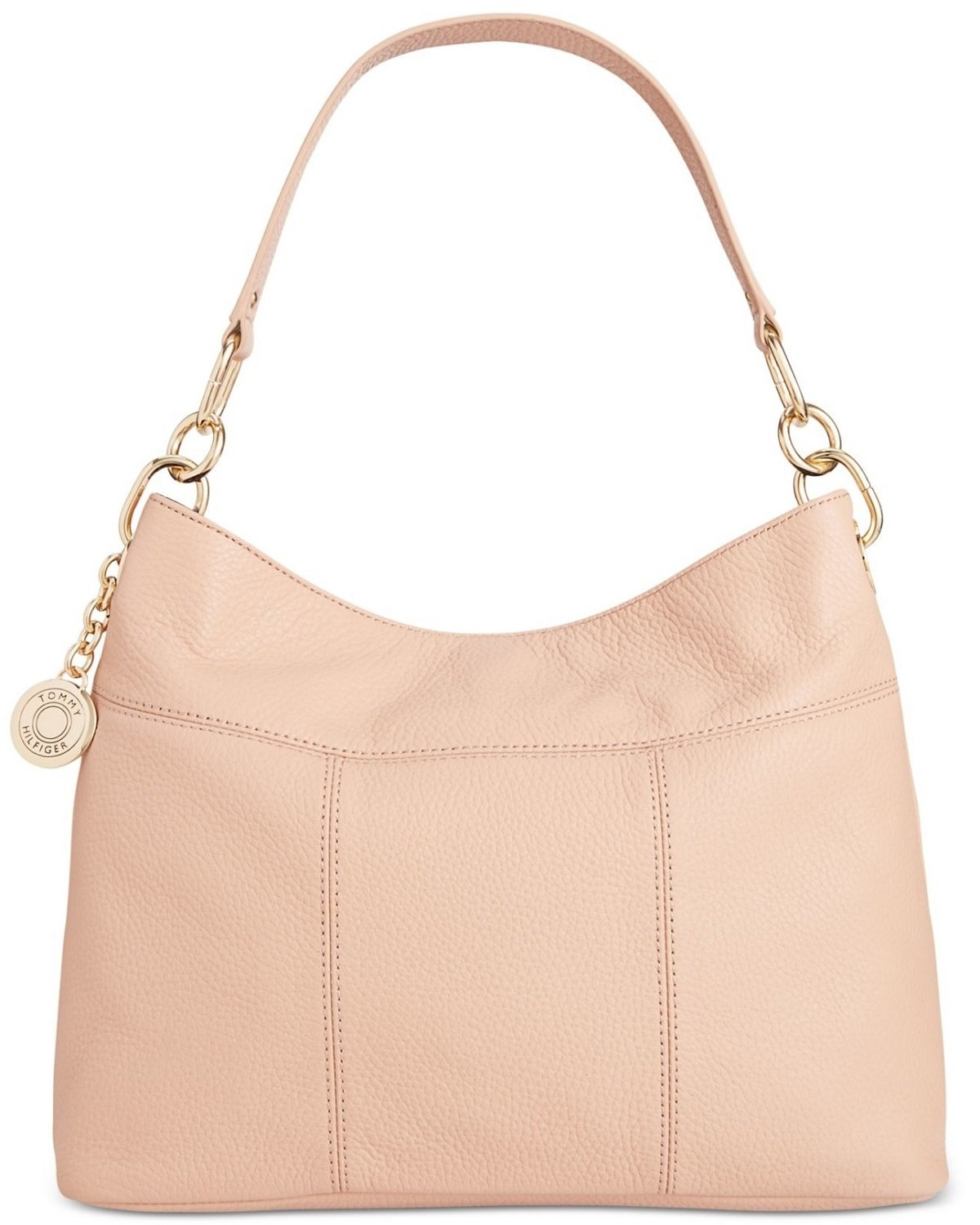 Tommy Hilfiger Th Signature Leather Small Hobo, Nude