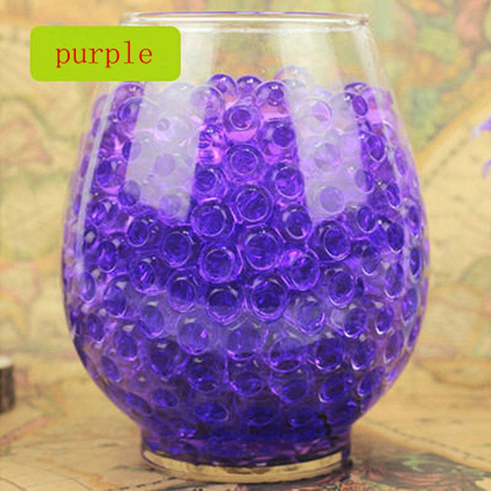 Meiyiu Pack Of 100PCS Crystal Water Bubble Bead For Wedding Party Decoration Purple