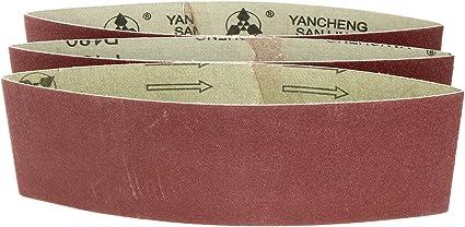 uxcell 3-Inch x 18-Inch 600 Grit Tape Joint Aluminum Oxide Sanding Belt 3pcs