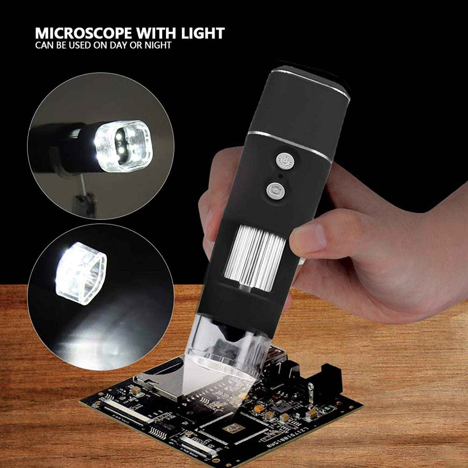 Microscope Mini WiFi Magnification Endoscope 1000X Digital Magnifier for Kids Students Adults