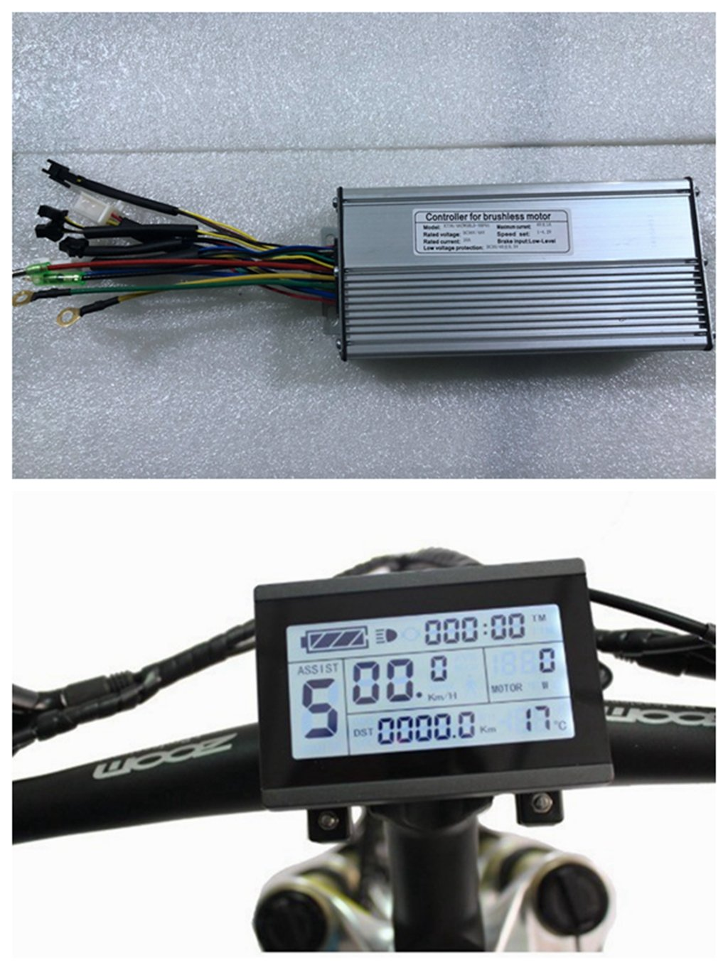 NBPower 36V/48V 1500W 40A Brushless DC Motor Controller Ebike Controller +KT-LCD3 Display One Set,Used for 1500W-2000W Ebike Kit.