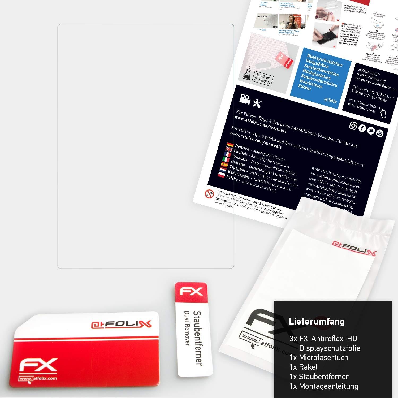 Rivestimento antiriflesso HD FX Protettore Schermo 3X atFoliX Pellicola Proteggi per Panasonic Lumix DC-GX9 Protezione Pellicola dello Schermo