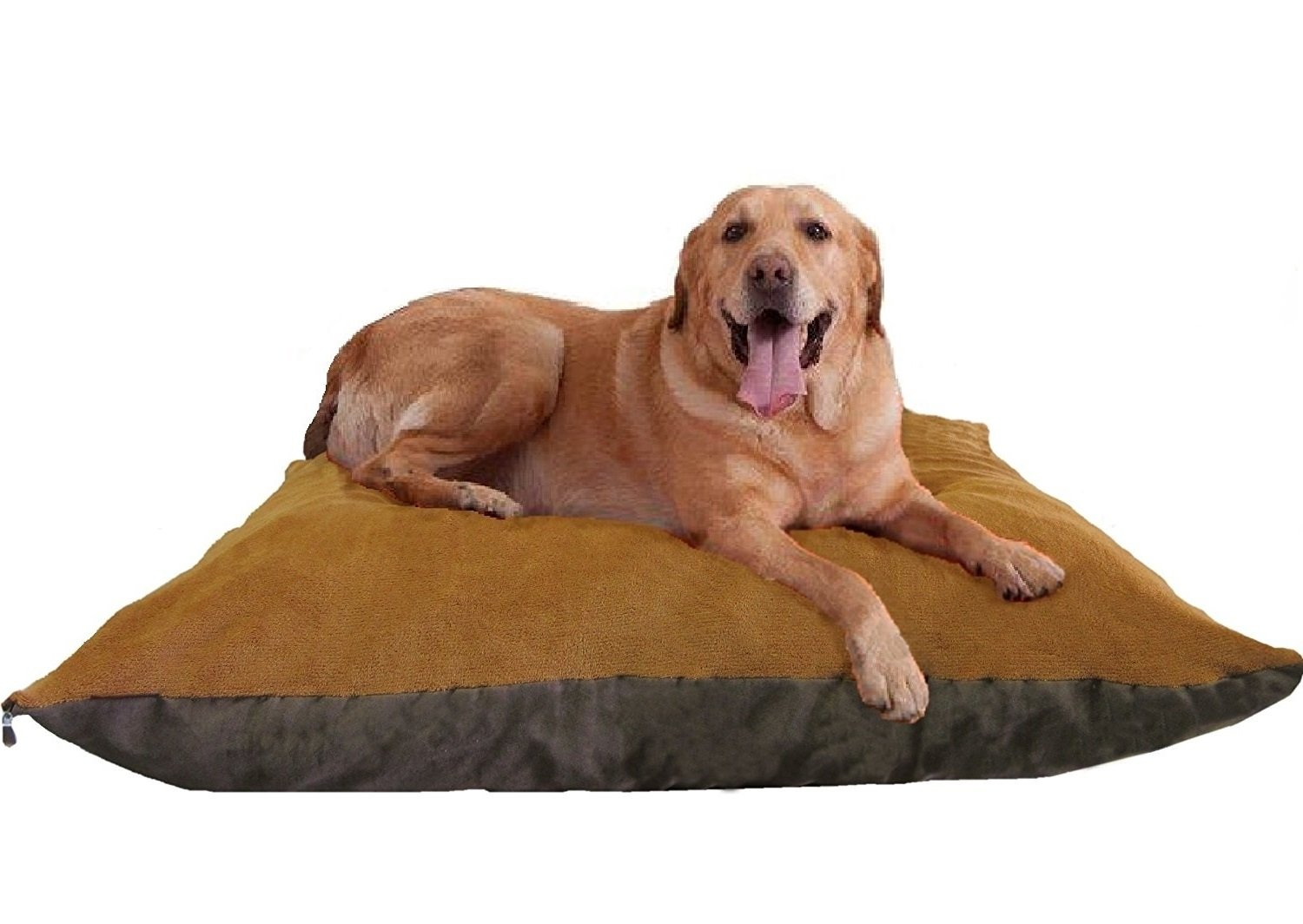 ehomegoods 54''X47'' XXXL Sudan Brown Jumbo Orthopedic Micro Cushion Memory Foam Pet Bed Pillow for XLarge dog with 2 external covers + Waterproof Internal cover