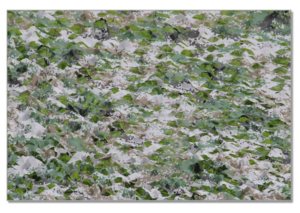 Dongyd Tarnungs-Tarnnetz Großes dekoratives Dschungel-Sonnenschirmnetz LuftGrüneidigungssimulationsfeld im Freien Schutznetz (Farbe   Digital Camouflage, größe   6.8  6.8 Meters)