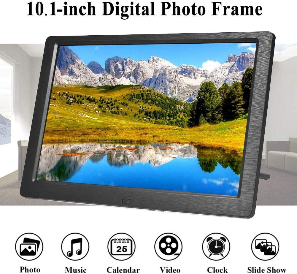 boomprospect 10 Inch Digital Picture Frame Photo//Music//Video Player Calendar Timer 1280x800 Digital Photo Frame Support USB SD Card Remote Control