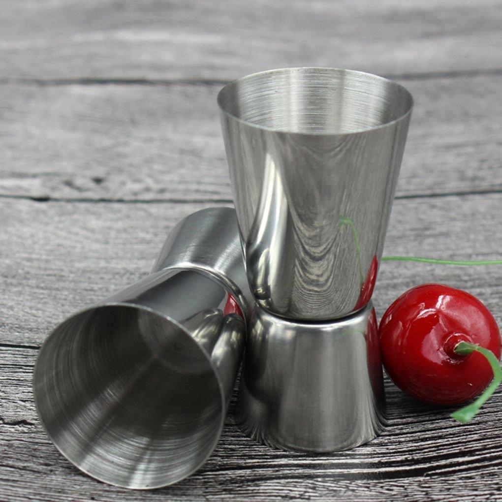 Laileya 25//50 ml in Acciaio Inox Bar Misure Jigger Partito Misure Wine Cocktail Jigger Doppia Anima Drink Misura Cup