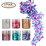 Face Glitter Chunky Glitter Faces and Bodies Cosmetic Hexagons Glitter Paillette Sparkling Decoration Glitter Hair and Nails for Festival Christmas