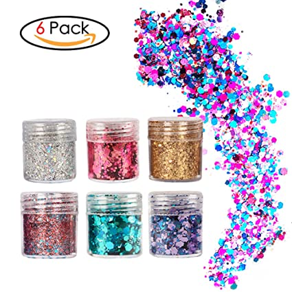 Buy Face Glitter Chunky Glitter Faces and Bodies Cosmetic Hexagons