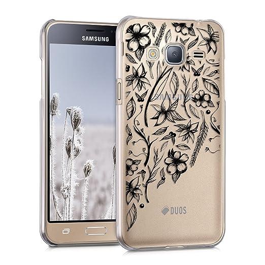 21 opinioni per kwmobile Cover per Samsung Galaxy J3 (2016) DUOS- Custodia trasparente per