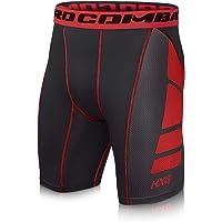 Hivexagon Pantalones Cortos de Compresión de Media Pierna
