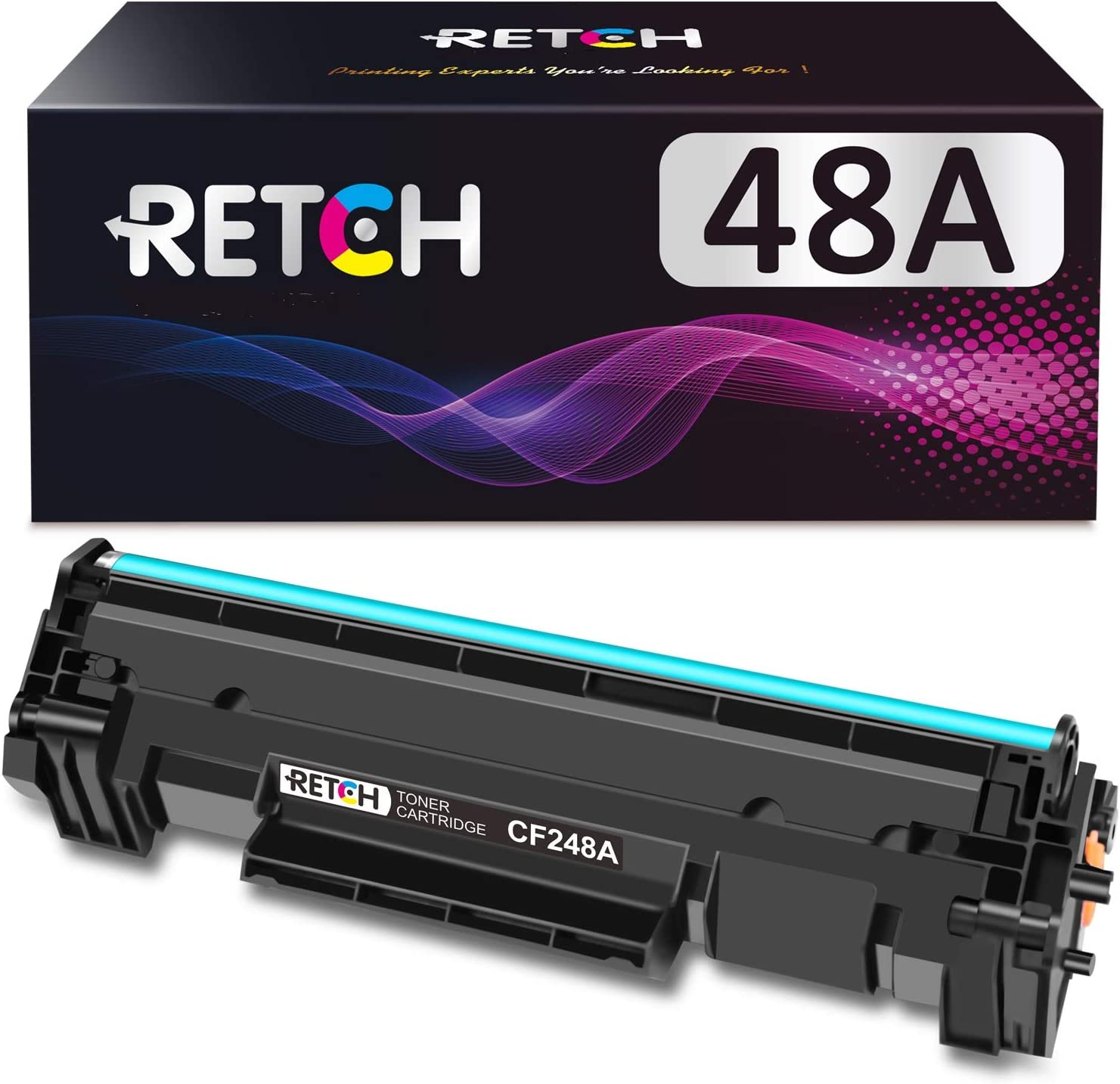 RETCH Compatible 48A Toner Cartridge Replacement for HP 48A CF248A for HP Laserjet Pro M15w M15a M16w M16a Laserjet Pro MFP M29w M29a M28w M28a Printer (1 Black)