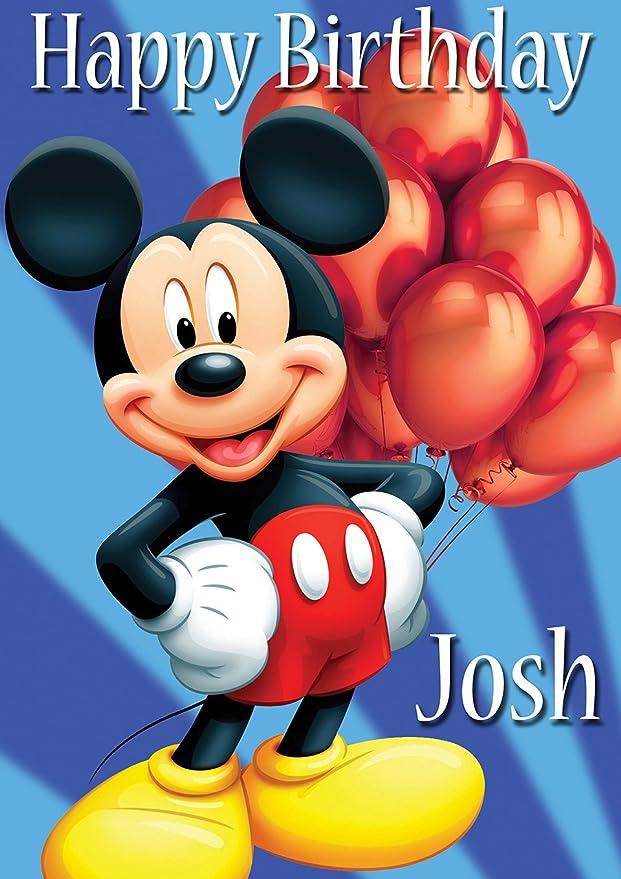 Chicbanners Mini Mouse V18 Affiche danniversaire personnalis/ée Design personnalis/é Grand format A0 1189 mm x 841 mm 118,9 cm x 84,1 cm Tout /âge Plus Texte peut /être ajout/é
